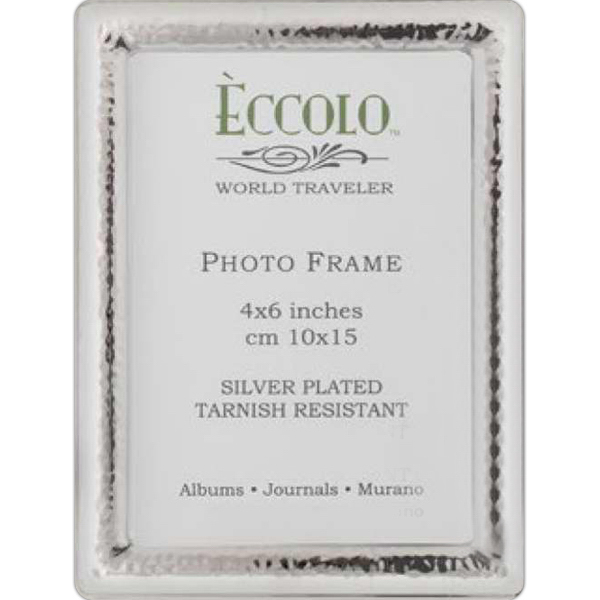 Printed Silver Collection Narrow Hammered Frame