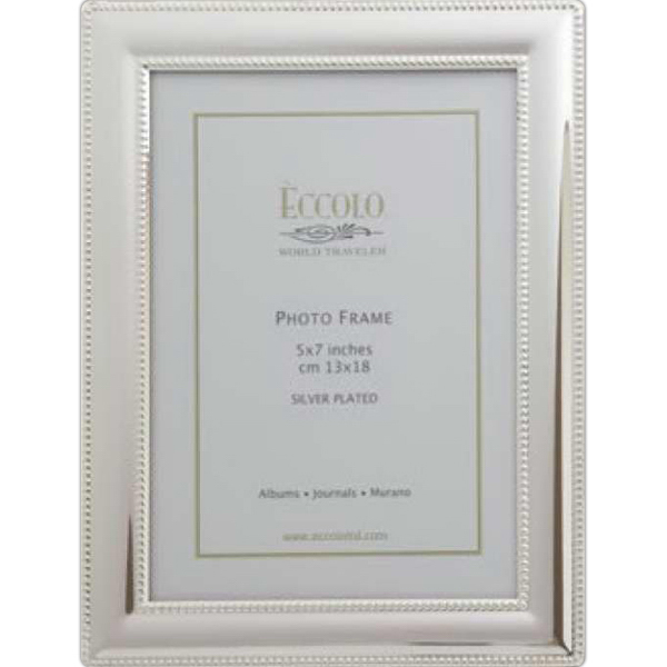 Printed Silver Collection Smooth Beaded Frame