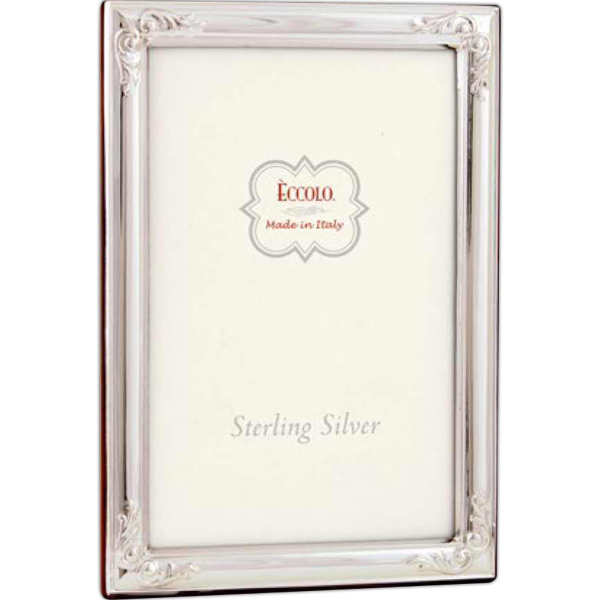 Customized Sterling Collection Flowered Corners Frame