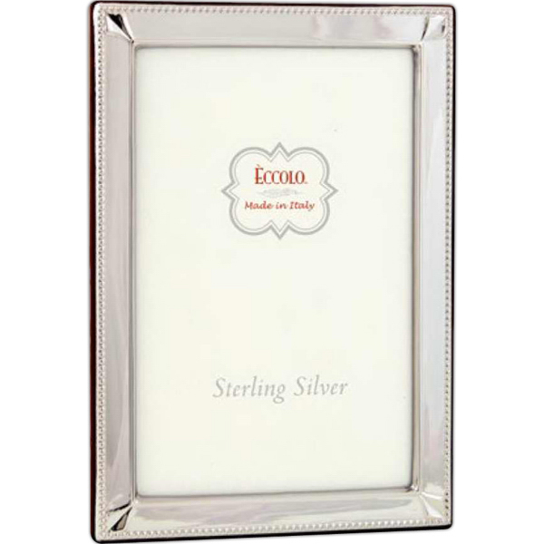 Imprinted Sterling Collection Diamond Corners Frame