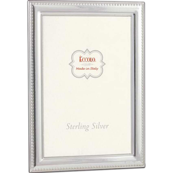 Customized Sterling Collection Beaded Line Frame