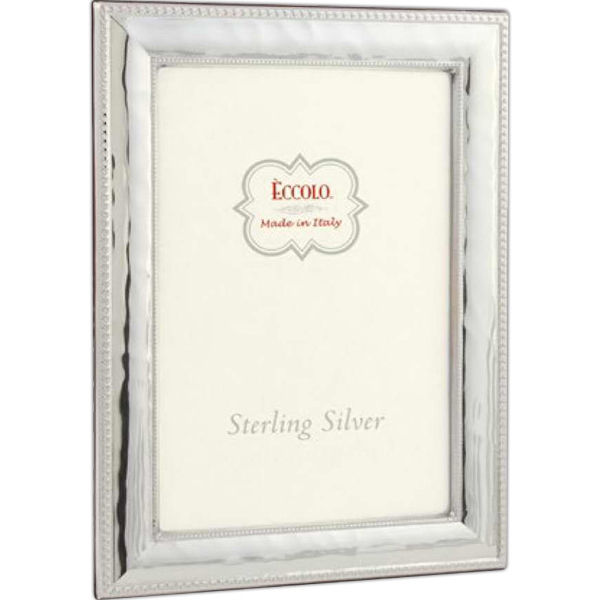 Printed Sterling Collection Hammered Fine Bead Frame