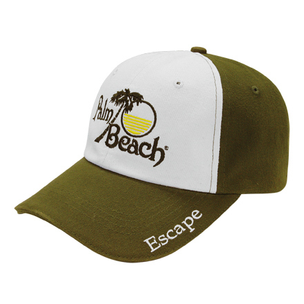 Customized Medium Profile Brushed Two-Tone Cap
