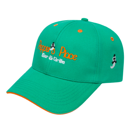 Promotional Medium Profile Brushed Sandwich Cap
