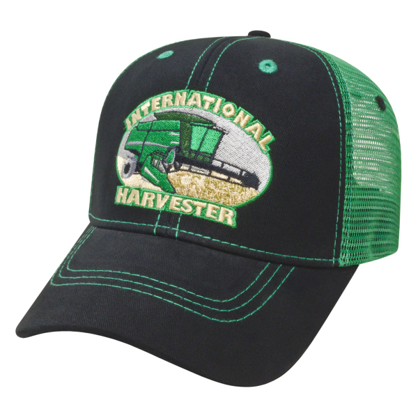 Promotional Medium Profile Brushed Cap with Trucker Mesh