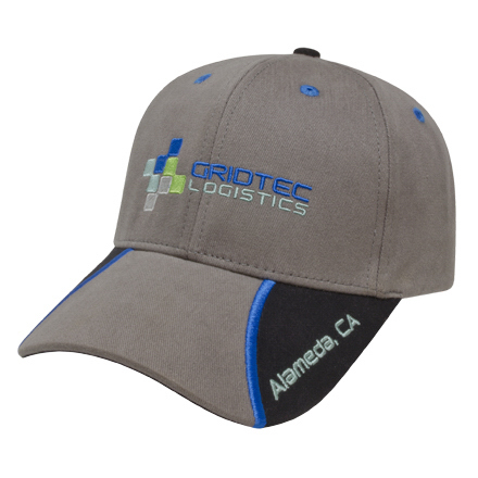 Customized Medium Profile Brushed Cap with Visor Inserts