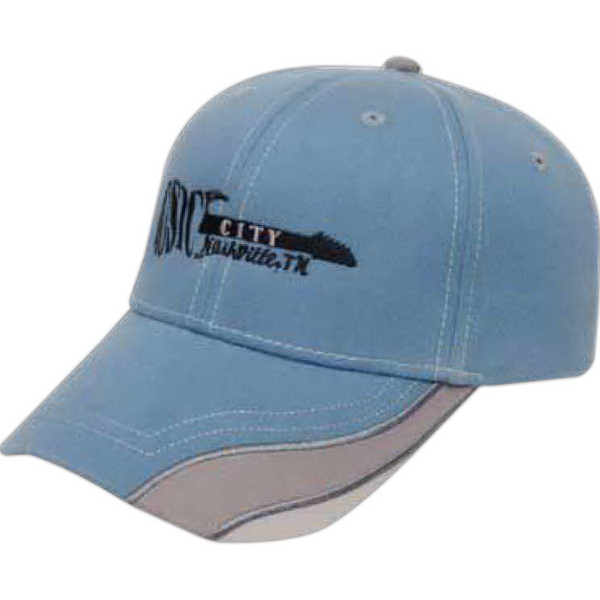 Printed Medium Profile Brushed Cap with Visor Inserts