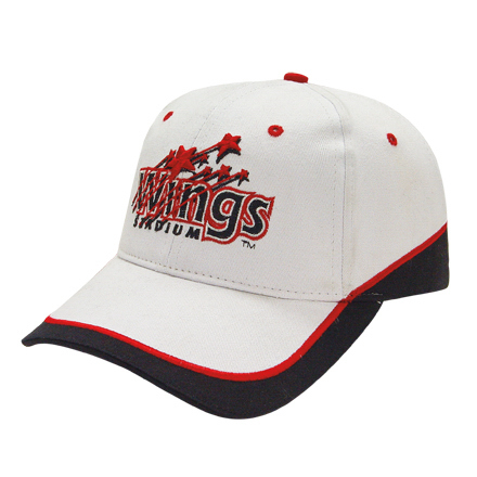 Promotional Medium Profile Brushed Cap with Fabric Inserts