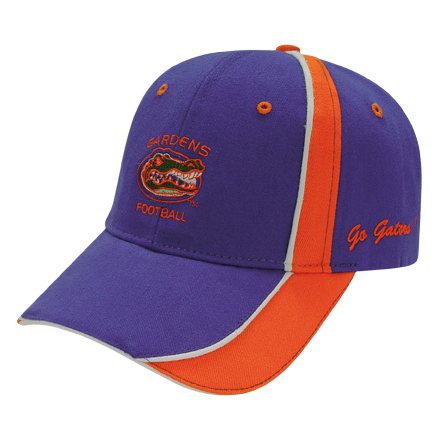 Printed Medium Profile Brushed Cap with Fabric Inserts