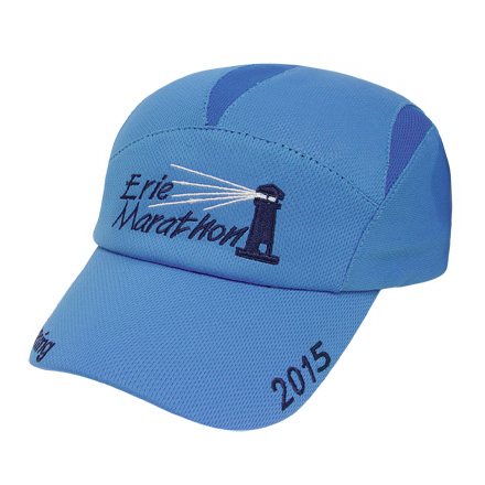Imprinted Medium Profile Runner's Cap with Wicking Mesh