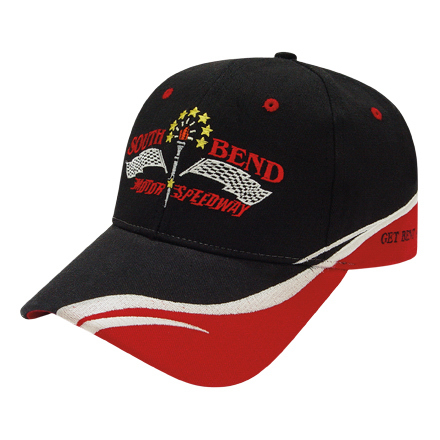 Imprinted Low Profile Brushed Cap with Fabric Inserts