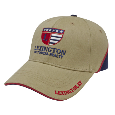 Imprinted Medium Profile Brushed Cap with Sandwich and Piping