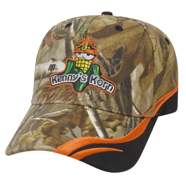 Custom Medium Profile Cap with Camo Fabric Insert