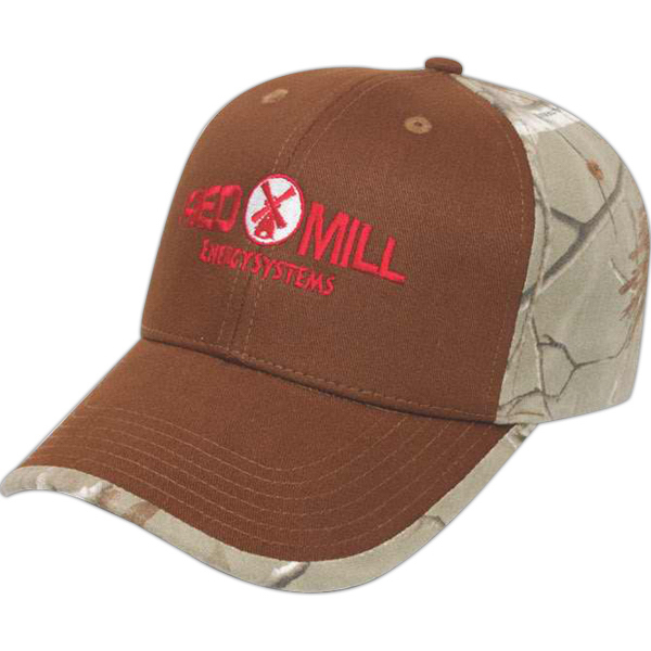 Customized Medium Profile Cap with Camo Fabric Insert