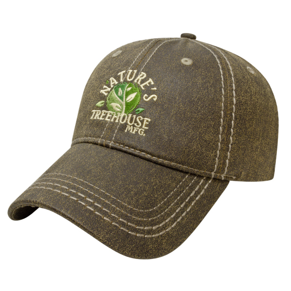 Promotional Faux Leathered Poly/Cotton cap