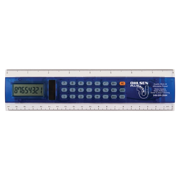"Customized 8"" Calculator Ruler"