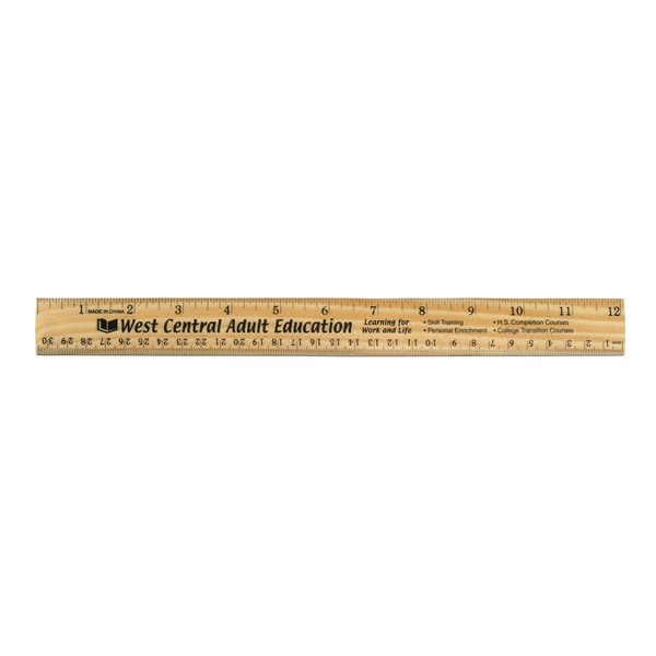 "Promotional 12"" Wood Ruler"