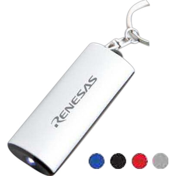 Imprinted Aluminum Key Chain Flashlight