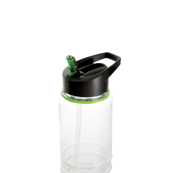 Imprinted 24oz Tritan Water Bottle with Color Coordinated Straw