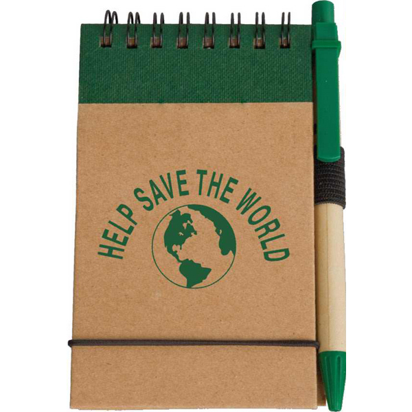 Personalized Targetline Eco Pocket Jotter with Eco Paper Barrel Pen