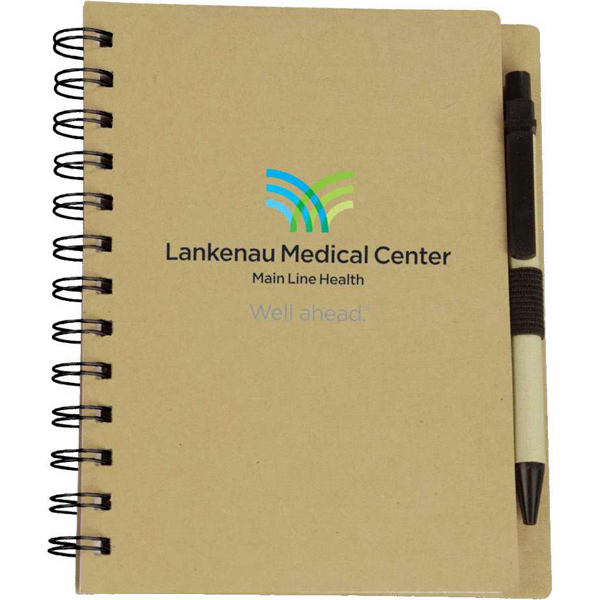 Printed Targetline Eco Spiral Notebook with Eco Paper Barrel Pen