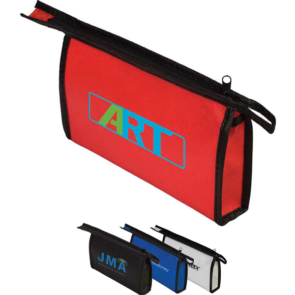Personalized Targetline Non-Woven Zipper Pouch