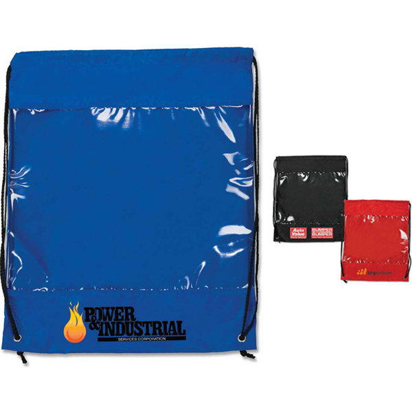 Printed Targetline Backpack with Clear Safety Window