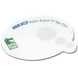 "Promotional 4"" x 3"" Die Cut Earth Friendly Adhesive Notepad"