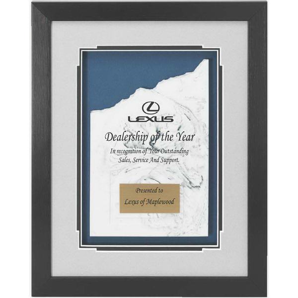 Personalized Framed Peak Piece of Cultured Marble