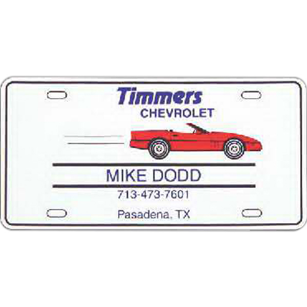 Imprinted License Plate Magnet