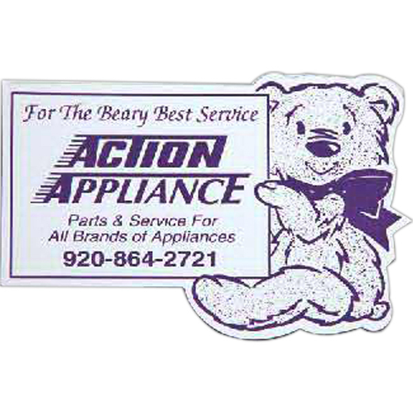 Imprinted Message Bear Magnet