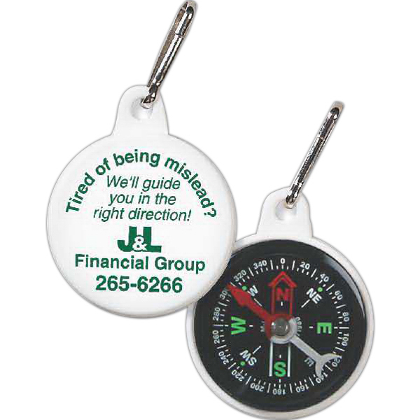 Customized Compass Zipper Pull