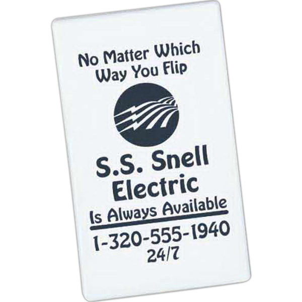 Imprinted Business Card Tip-Top Magnet