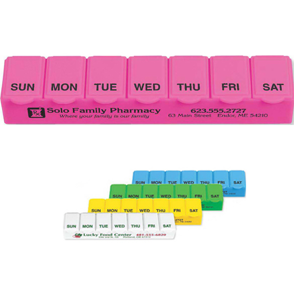 Personalized Traditional 7 Day Pill Box
