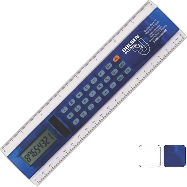 "Personalized 8"" Calculator Ruler"