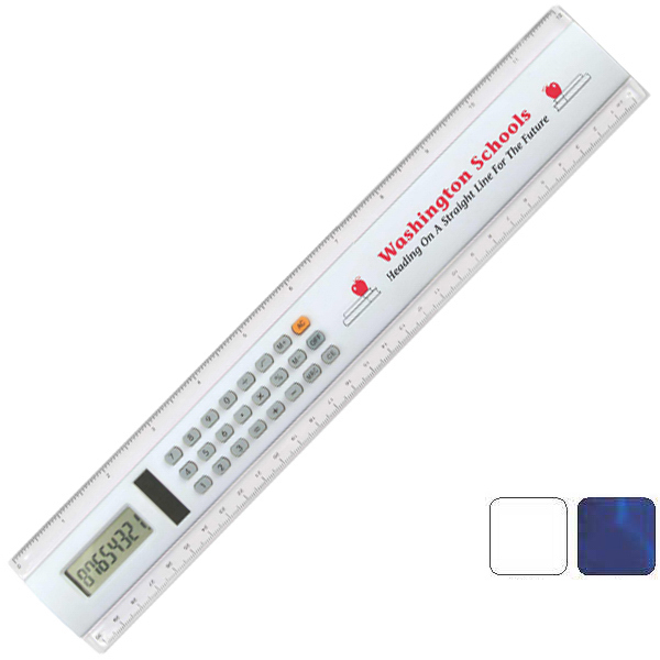"Personalized 12"" Calculator Ruler"