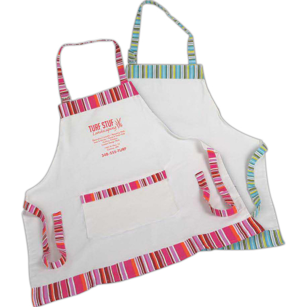 Printed Apron With Trim