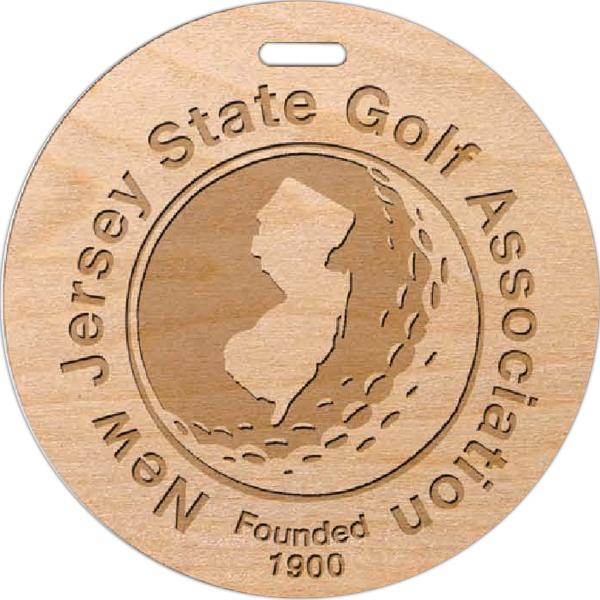 Personalized Laser Engraved Wood Golf Tags
