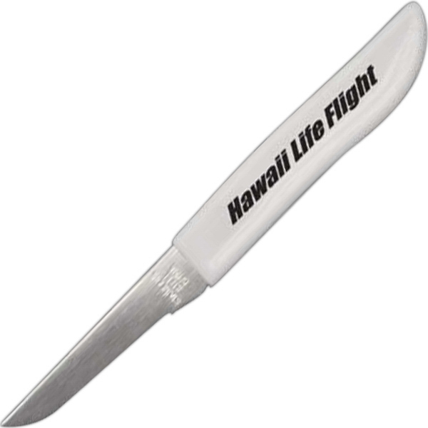 "Promotional Stainless Steel Paring Knife White 2 1/2"" Blade"