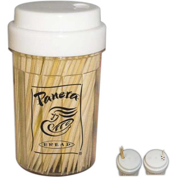 Promotional Toothpick Holder - Round