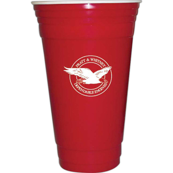 Personalized 32 Oz. Red Party Cup with Double Insulated Wall