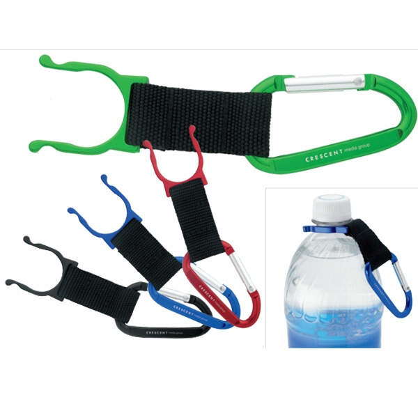 Custom Carabiner with Bottle Holder