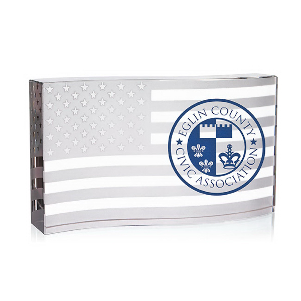 Customized Waving Flag Paperweight