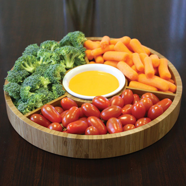 Printed Gourmet Bamboo 2-Piece Serving Tray