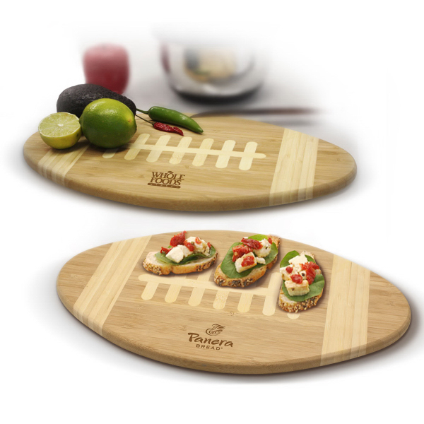 Printed Bamboo Football Cutting Board