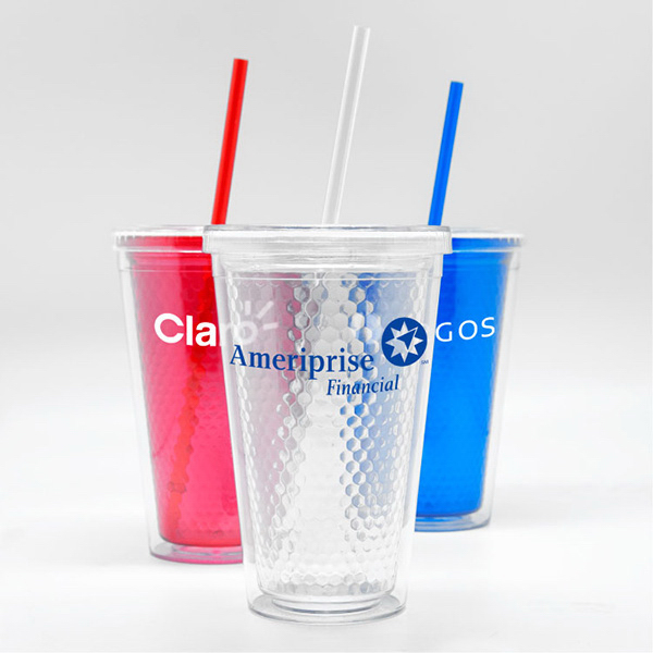 Promotional Honeycomb - 16 oz Acrylic Tumbler