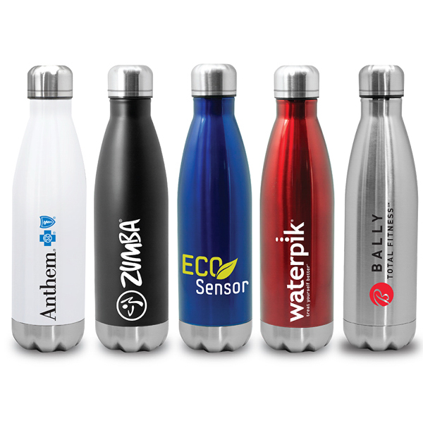 Imprinted Quench - Stainless Steel Cola Bottle