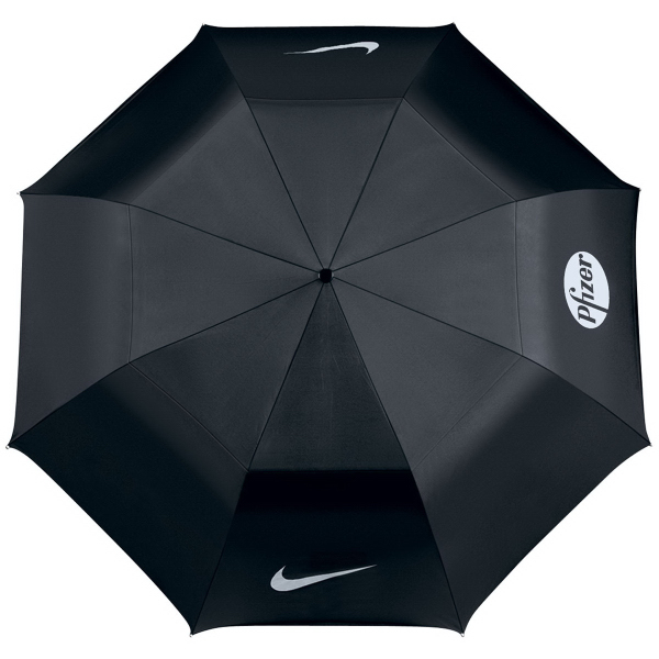 Printed Nike collapsible golf umbrella