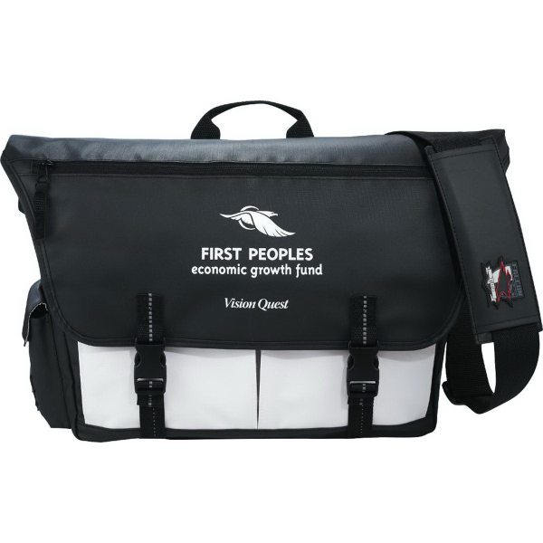 Imprinted Falcon Commute Compu-Messenger Bag