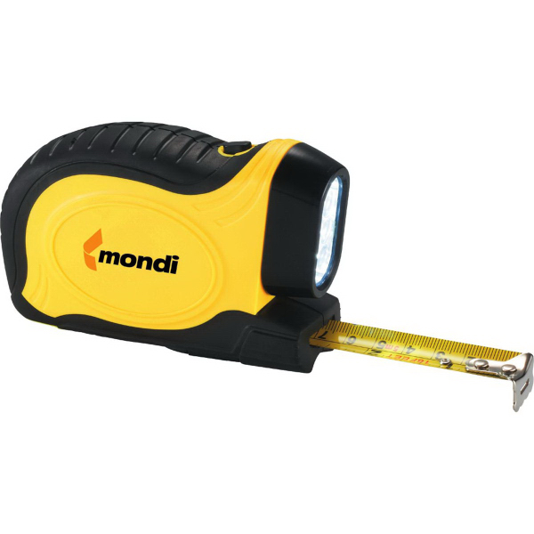 Imprinted WorkMate Tape Measure with Flashlight